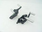 Black Forward Control Drilled 2000-Up +2 with Chrome Stunt Foot Pegs