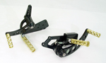Black Forward Control Dirlled with Brass Plated Swiss Cheese FXST Peg 70-99 +3