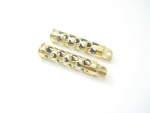 Solid Brass Swiss Cheese Foot Pegs