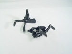 Black Forward Control Drilled 70-99+2 With Chrome Oval Cushion Foot Pegs Fit FXST, FLST Models