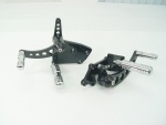 Black Forward Control Drilled 2000-Up +2 With Chrome Groove Contour Foot Pegs
