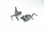 Black Forward Control Drilled 1970-1999 +2 With Chrome Taper Cushion Foot Pegs Fits FL,FX,FLST and FXST Harley Models