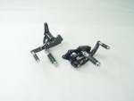 Black Forward Control Drilled 1970-1999 +2 With Chrome Stub Nose Foot Pegs Fits FL,FX,FLST and FXST Harley Models