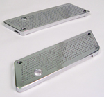 Saddlebag Latch Perforated Aluminum Chrome Billet Fits 1993-Later Touring Models