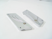 Saddlebag Latch Cover Flair Aluminum Billet Chrome Fits 1993-Later Touring Models