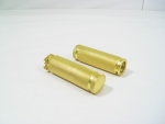 Brass Plated Knurled Grips For All Harley 1982-2007