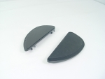 Black Billet Oblong Tear Drop Floorboards for FLST,FLHT Models