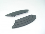 Black Billet Rocket Floorboards fits FLST,FLHT Models