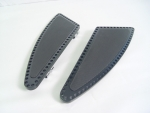 Black Billet Shark Fin Floorboards Rubber Padded for FLST 1986-up , FLT,FLHT 1980-UP