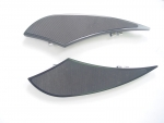 Black Billet Shark Dorsal Fin Floorboards Rubber Padded for Harley FLST,FLT,FLHT Models