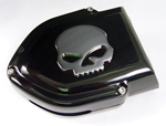 Black Hyper Charger Air Cleaner Assembly With Chrome Skull fits CV Carburetor Big Twins and Sportsters Models