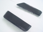 Black Billet Knucklehead Floorboards Rubber Padded for Harley FLST 1986-up & FLT, FLHT 1980-up Models