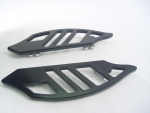 Black Billet Shark Gill Floorboards for FLST,FLHT Models