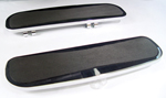 Black Billet Slanted Floorboards for FLT,FLHT 1980-up  and FLST 1986-up Models