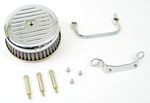 Chrome Ball and Mill Air Cleaner Assembly For Big Twins Evolution 1984-1999