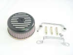 Black Ball and Mill Air Cleaner Assembly For Big Twins Evolution 1984-1999
