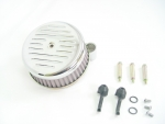 Chrome Ball and Mill Air Cleaner Assembly Fit Big Twin 2000-Up