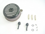 Black Ball and Mill Air Cleaner Assembly Fit Big Twin 2000-Up