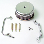 Chrome Plain Air Cleaner Assembly Fit Big Twin Evolution 1984-1999