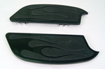 Black Flames Rubber Padded Floorboards