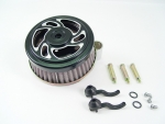 Black Swirl Air Cleaner Assembly Fit Big Twin Evolution 2000-Up