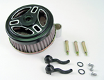 Black Tribars Air Cleaner Assembly Fit Big Twin Evolution 2000-Up
