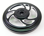 Black Swirl Air Cleaner Top Fits Big Twins Evolution 1984-Up