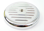 Chrome Ball and Mill Air Cleaner Top Fits Big Twins Evolution 1984-Up