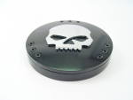 Black Skull Air Cleaner Top Fits Big Twins Evolution 1984-Up