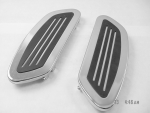 Streamline Driver Floorboards- Vertical Rail for Harley FLT/FLST