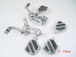 "Forward Controls fit Harley Big Twin 1970-99 Std +2"" Mini Floorpeg"