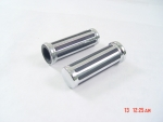 "Chrome Rail Style Hand Grips With Slotted Rubber Inserts Multi Fit 1"" Handlebars 5"" Long"