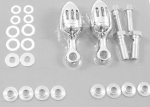 Cylinder Mount Breather Kit Chrome Billet