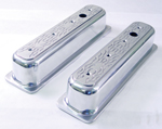 Aluminum Valve Covers Flamed for Chevy 1987-97 Tall