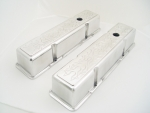 Aluminum Valve Covers Flamed for Chevy 1958-86 Tall