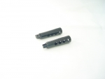 Straight Drilled Black Anodized Foot Pegs