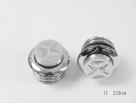 Chrome Retractable Gas Caps for Harley Davidson 1982 -up