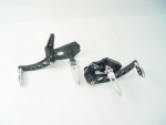 Forward Control Black Softail, Gladiator Pegs 00- Up Std Extended