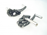 Forward Control Black Softail, Brass Drilled Pegs 00-Up Std Extended