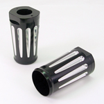 Fork Covers Billet Deep Cut Black Fits Road King Models